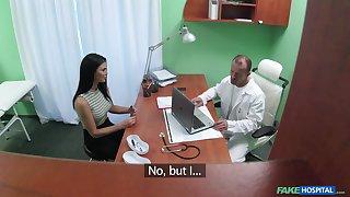 Brunette hottie Jasmine Jae fucked in the doctor's office. HD