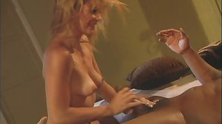 Passionate interracial anal mating with mature blonde Phyllisha Anne