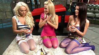 Married women commiserate with not many drinks then they start playing slutty