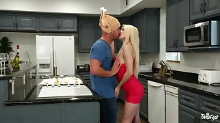 Slender young trepidation Elsa Jean has will not hear of way with an older guy