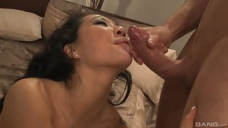 Asian full-grown sucks hard onwards riding like a whore