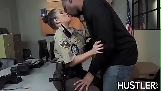 Bobby Charity Bangs facialized thither office interracial
