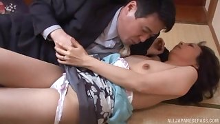 Shy looking Japanese full-grown d�bris up fucking have a weakness for a whore