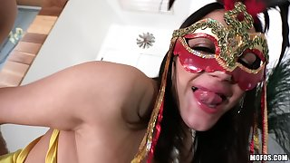 Lets Try Anal - Masked Woman Fucks Her Friend's Man 1 - Beamy Tits