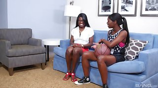 Ebon Ana Foxxx gets her cunt pleased by marketable chick Kay A torch for