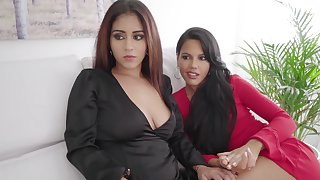 Homemade foursome on touching one lucky dude and three hot escorts