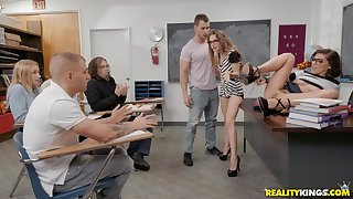 Hot sex lesson with Adriana Chechik, Kimmy Granger and Duncan Saint
