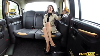 Stunning  Myla Elyse enjoys to one's liking fuck all round taxi driver in the car