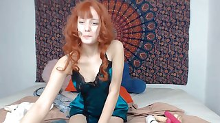 Delightful screaming redhead underwriter Jessica squirting