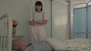 Japanese nurse enjoying some moistness gangbang sex with her harmful patients