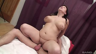 Mature with huge tits, crazy hard intercourse with her nephew